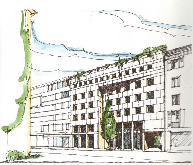 Menardihaus Skizze
